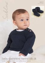 6051 - Little Henley Crew & Little Crew Boots Knitting Pattern